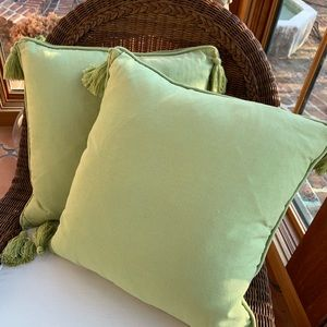 POTTERY BARN Set of Two Pillows w/feather inserts